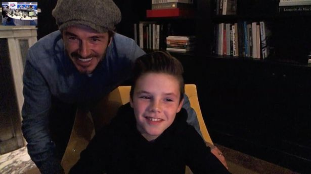 David Beckham Promoting Son Cruz Beckhams Singing Career