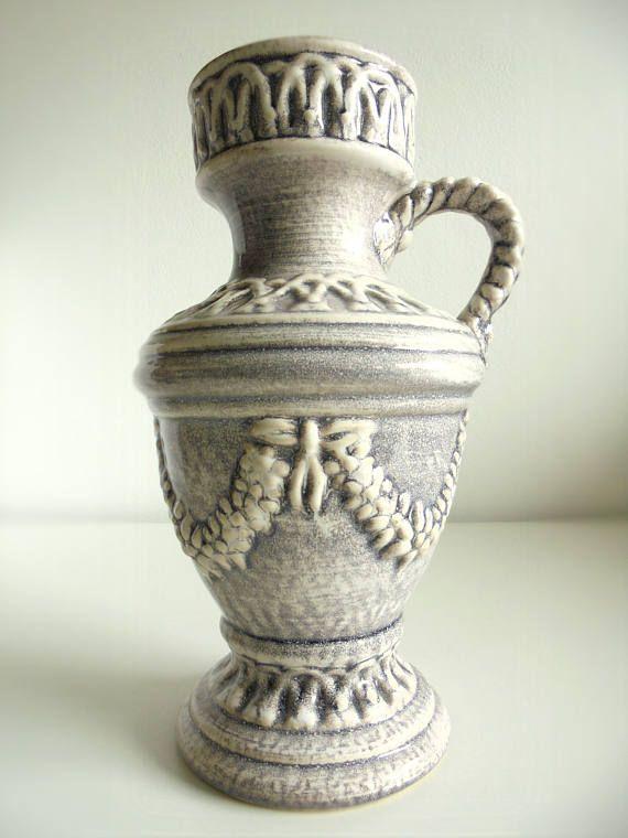 West Duits keramiek vaas aardewerk vaas mid century modern fat