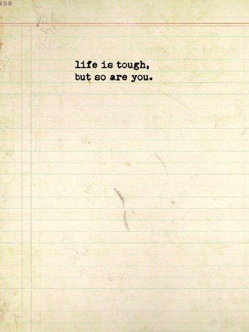 Just be a FIGHTER, not a qwitter and be a WARRIOR, not a worrier ;)