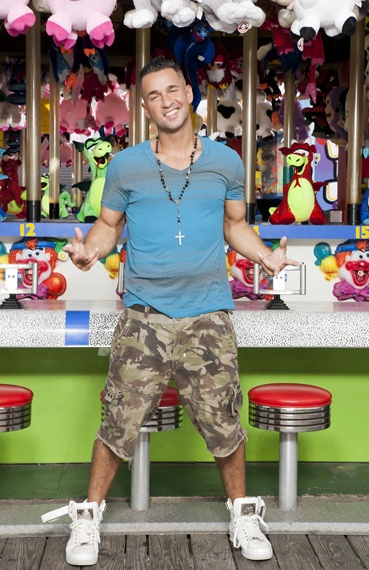 "Mike Sorrentino, aka The Situation, in a promo pic for Jersey Shore....gotta ""shout out"" some mad <3 for Sitch!!"