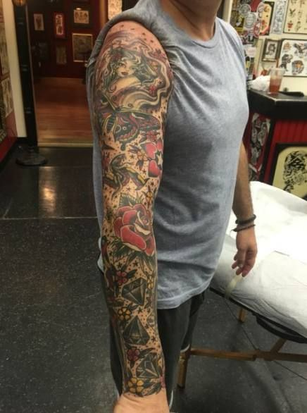 Tattoo Sleeve Shading Filler : tattoo, sleeve, shading, filler, Tattoo, Sleeve, Filler, Roses, Ideas, Filler,, Tattoos,, Traditional