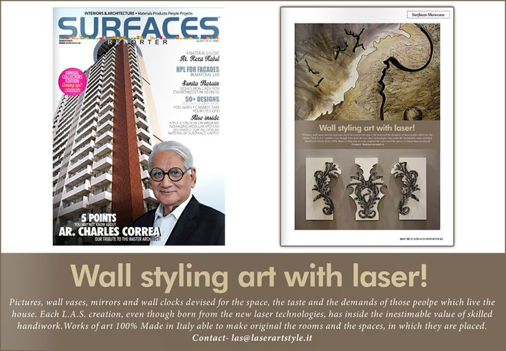 L.A.S. #laserartstyle is on #SurfacesReporter, in its focus on #ISaloni 2015! Thanks! #wallsculpture #design #interiordesign #homedecor #mdw15 #India