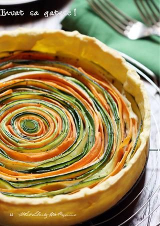 Beautiful Vegetable Tart - So pretty for brunch!