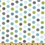 Michael Miller Backyard Baby Windy Day Aqua - Discount Designer Fabric - Fabric.com