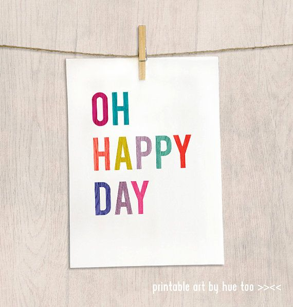 Oh happy day!