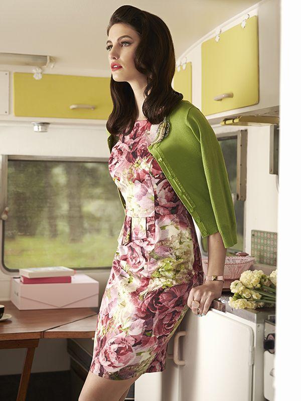 The Perfect Peony Dress ✿ #retrostyle #vintagefashion #50s #60s