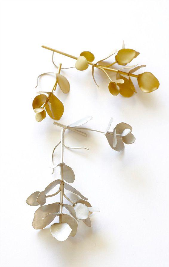 Kanoe - Eucalyptus EARRINGS -asymmetry
