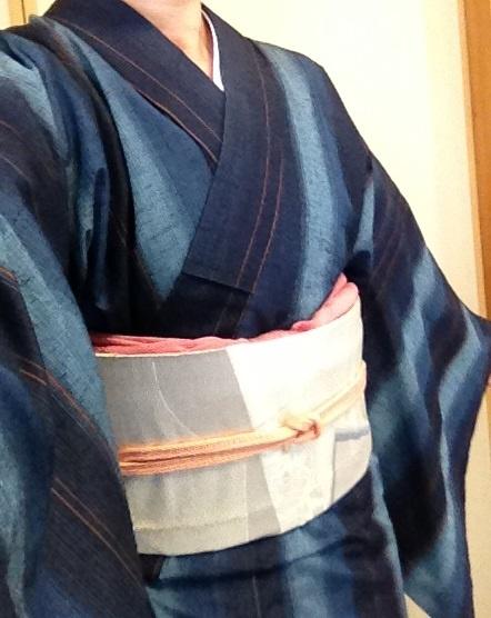 indigo tsumugi (紬)kimono