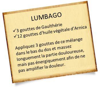 Soigner un lumbago avec les huiles essentielles et une méthode clé en main.
