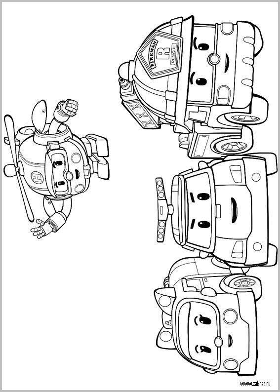 Robocar Poli coloring