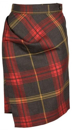 Vivienne Westwood Anglomania New Accident Skirt in Red Tartan | The House of Beccaria#