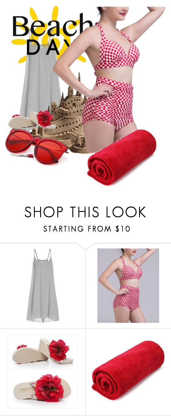 """""""Sun Fun"""" by daincyng ❤ liked on Polyvore featuring Coeur de Vague, Sunset Hours and beachday"""