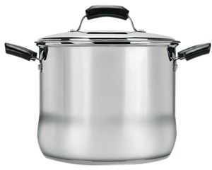 With this 8 Quart Stock Pot Create delicious soups, stews, chili and of course money-saving homemade stock all in one pot! Great for busy cooks, your ingredients can go in and then simmer, building rich and delicious flavors, while you do other things. With an 8 quart capacity, you can cook up plenty of delicious homemade goodies.