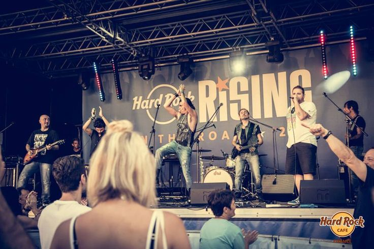 #HRRisingOnTheRoad - #Marcomale set with very special guests #FrancescoGuasti (#TheVoiceOfItaly) and rapper #Blebla ! #ThisIsHardRock