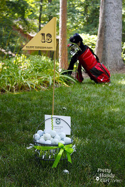 """June is upon us, and that means that Father's Day is just around the corner! Do you want to be the """"birdie"""" of your hubby's eye? Or maybe you want to give Dad a present that is above """"par""""! Well, I have a gift basket idea that is sure to be a """"hole-in-one""""! Instead of …"""