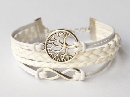 $15 for a Faith Bracelet: Silver Wishing Tree & Infinity Charm - Shipping Included ($95 Value)