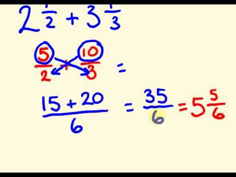Fractions addition and subtraction the fast way with mixed numbers - cool math trick! - YouTube