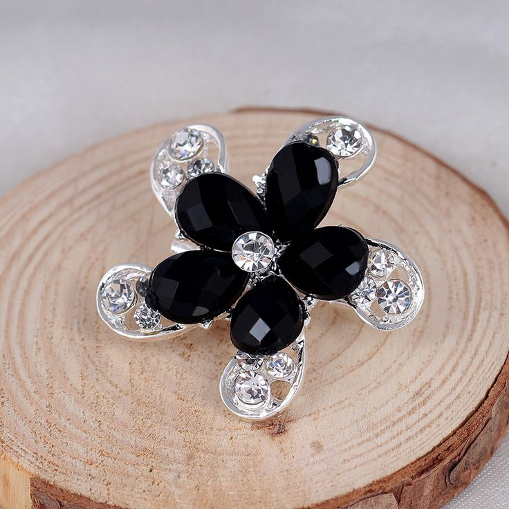2017 fashion resin+rhinestone flower brooch pins for wedding dress pins and brooches for women unique brooch jewelry danbihuabi