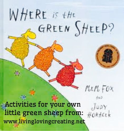 Where is the Green Sheep? Activities for kids from www.livinglovingcreating.net