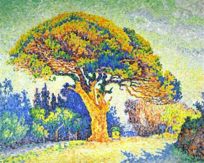 The Pine Tree at St. Tropez, Oil On Canvas by Paul Signac (1863-1935, France)