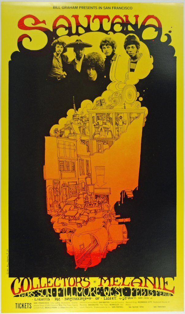 Psychedelic Art Exchange | Concert Poster Store — (BG-160) Santana, Fillmore West *Mint Condition*