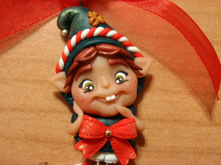 elfetto di Natale in fimo