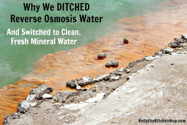 Several years ago Kent and I bought a whole-house water filter and a reverse osmosis drinking water filter, we've since ditched RO and here's why...