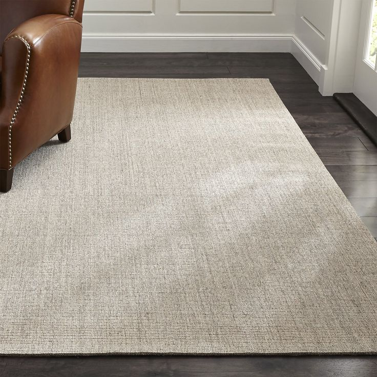 Sisal Linen Rug | Crate and Barrel