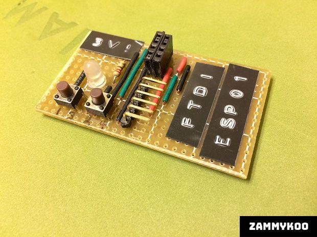 ESP8266-to-FTDI Breakout Strip Board Adapter