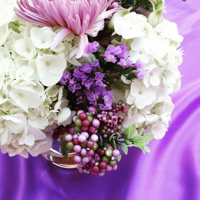 A shot of the centerpieces during the styled shoot e did with photographer Glen Cabotage
