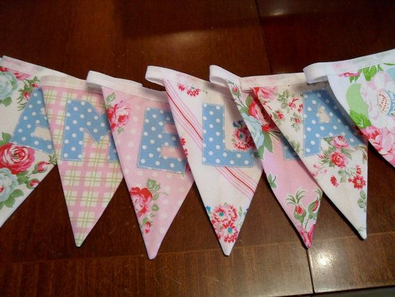 Personalised bunting name banner name bunting by MaisyDaisyCrafts, £21.50