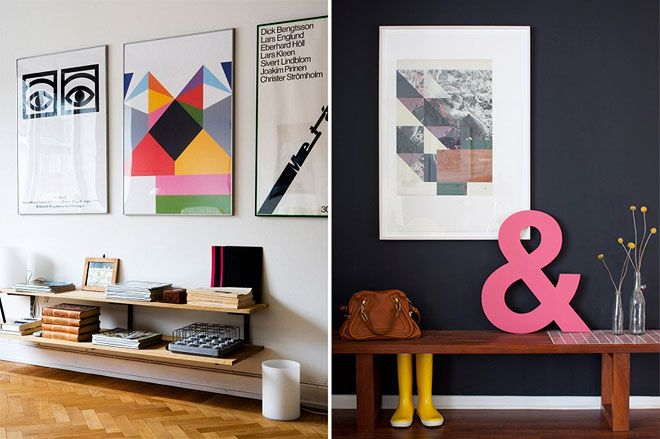 //: Stylish Spaces, Living Rooms, Awesome Prints, Living Spaces, Mount Shelves, Wall Color, Interiors Design, Apartment Idea, Low Shelves
