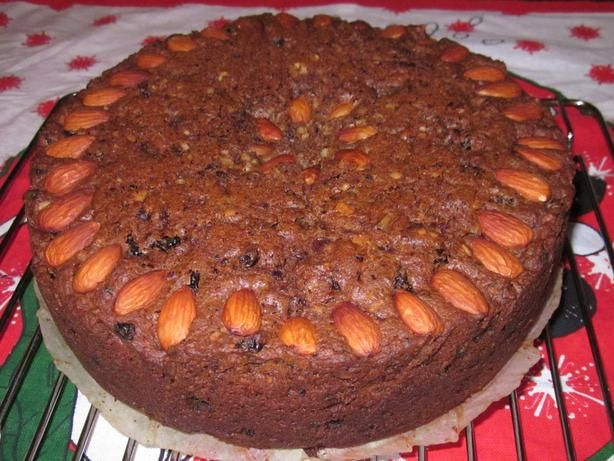 This is a very easy cake to make. The fruits never sink, and the cake is not as rich as some fruitcakes. Do not be put off by the list of ingredients - its worth adding them all. This is a South African recipe, so Zaarmail me for substitutions if necessary.