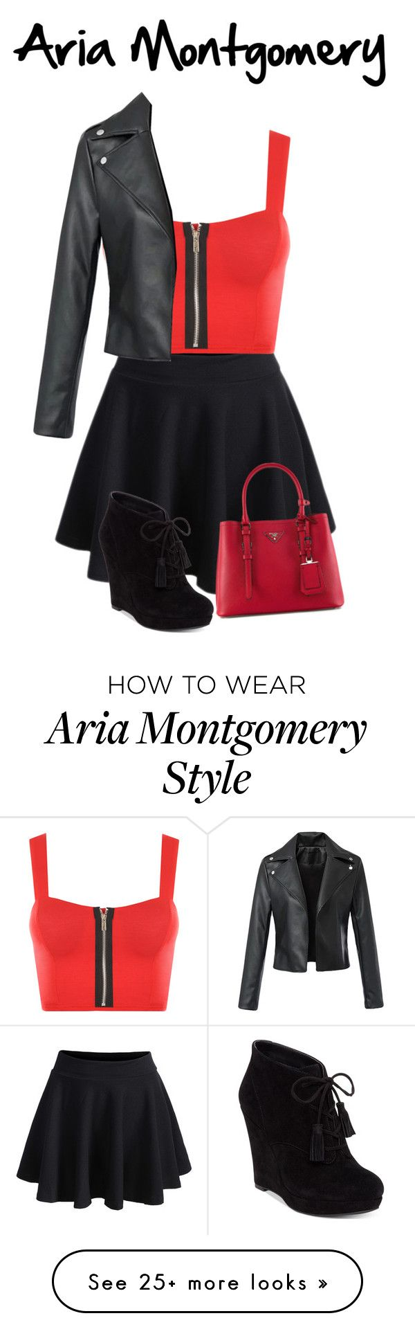 """""""Aria Montgomery: Casual"""" by aquamarine03 on Polyvore featuring WearAll, Jessica Simpson and Prada"""
