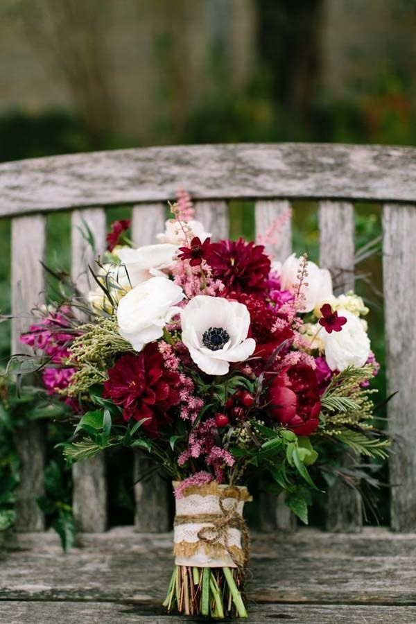 November Wedding Bouquet Bridal Bouquets Fall Flowers Arrangements, anemones…