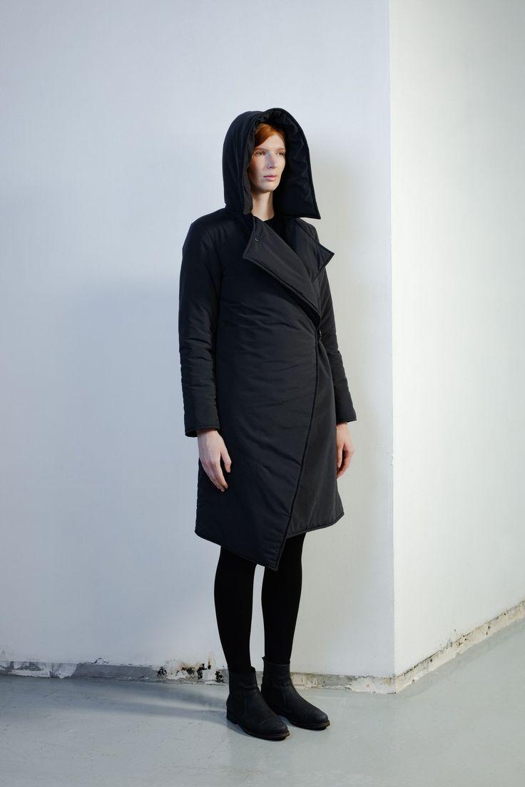 Куртка длинная Large Hood Black