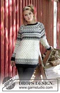 Knitted jacket with multi-coloured pattern and raglan. Size: S - XXXL Piece is knitted in DROPS Karisma.