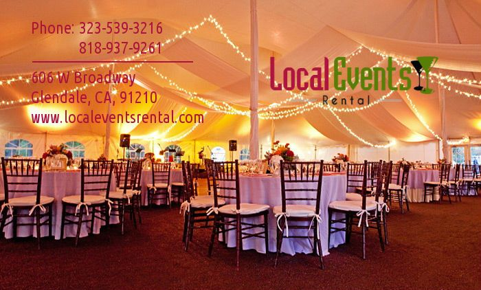 Hiring party equipment and party supplies