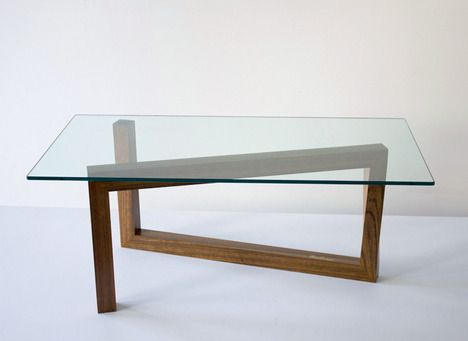 momento table - roberto stefano truzzolillo - single rectangular frame supporting a glass surface