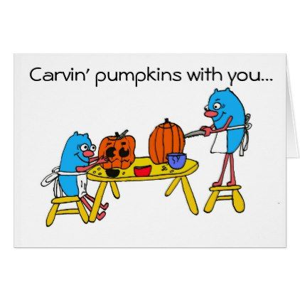 Carvin' Pumpkins with you:  Autism Charity Card - diy cyo customize create your own personalize