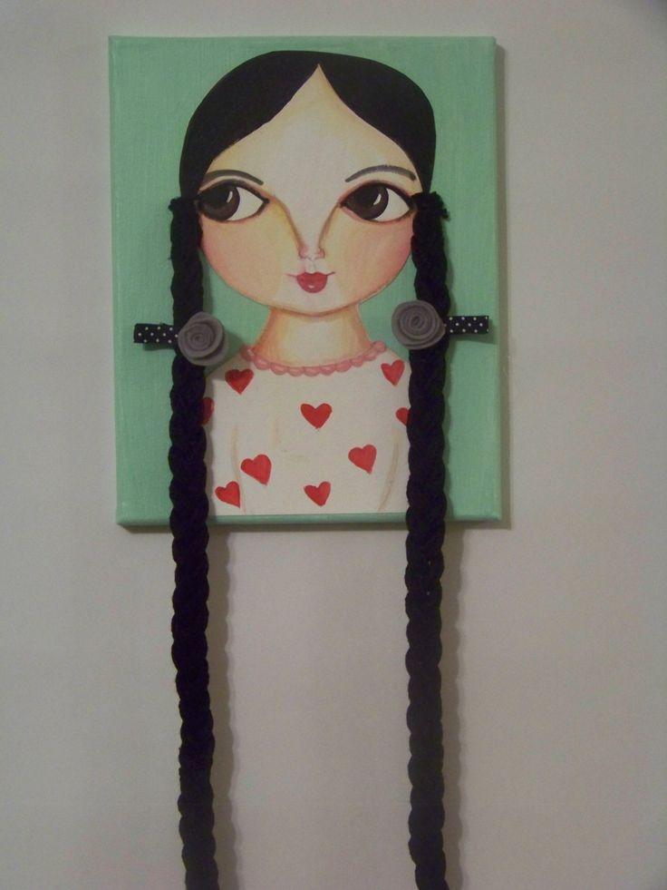 doll face Hair Clip Organizer hair clip holder by TheNookShop, $22.00