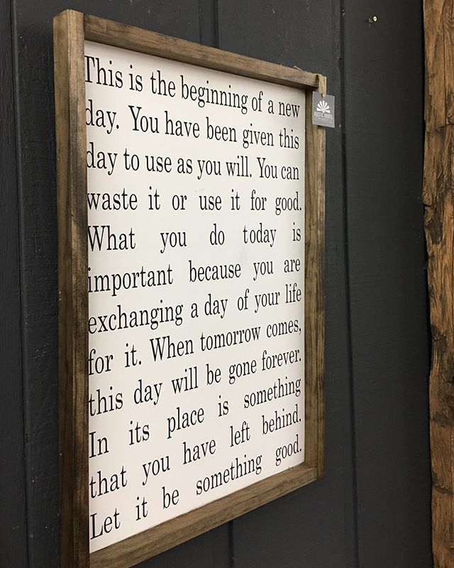this is the beginning of a new day sign/ rustic roots il/ handmade wood sign/ farmhouse decor/ fixer upper decor/ farmhouse store/ modern farmhouse/ home day/ideas/ home decor/ boho decor/ boho farmhouse/ neutral decorating/ neutral decor/ home decorating ideas