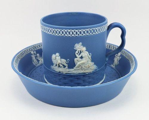 Adams & Co. Blue Jasper Cup & Saucer: