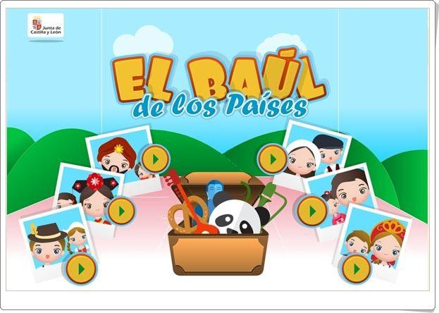 """""""El baúl de los Países"""" (Juego de Verano de Infantil)"""