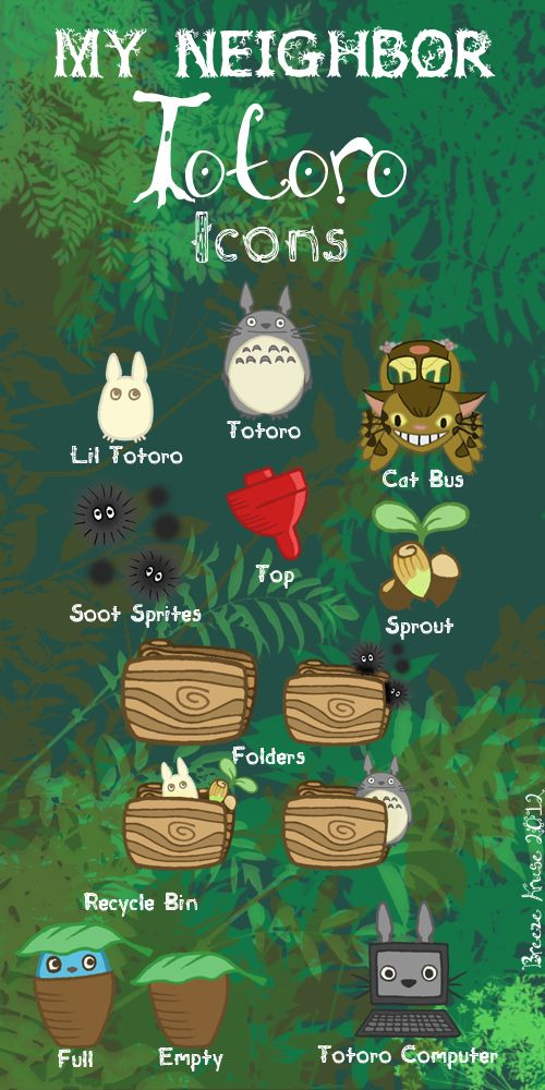 My neighbor Totoro | My Neighbor Totoro Icons (13 iconos) – Pulsar para descargar