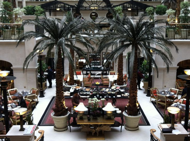 #Atrium #Dining #Winter#Garden #Landmark #Hotel #London #Palm#Trees