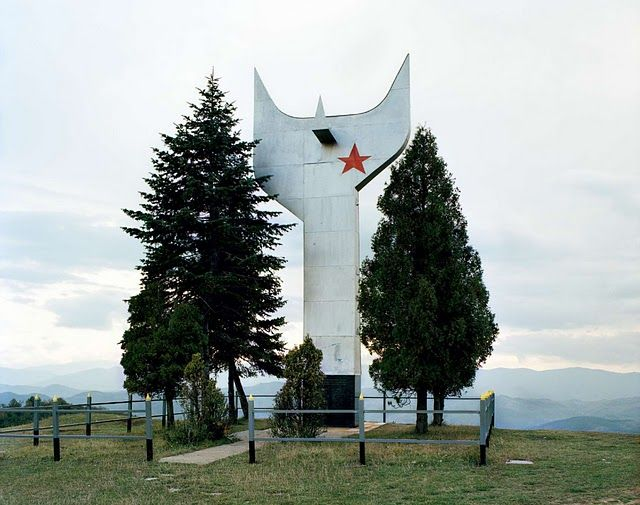 Part of a series of photographs documenting war monuments built in Tito era Yugoslavia.