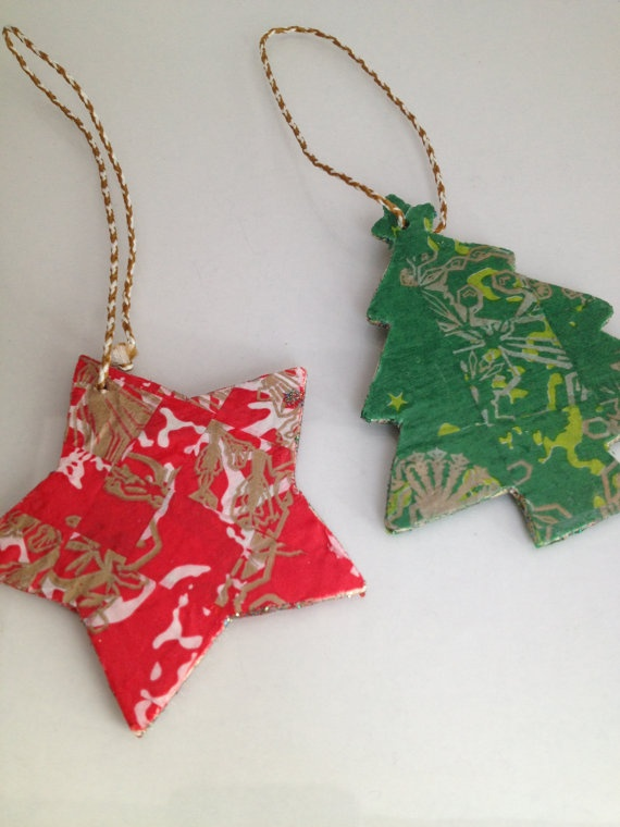 Decopatch Handmade Christmas Decorations set by KimJacquesDesigns, £5.00