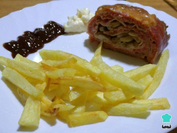 Rollo De Carne Picada Envuelto En Bacon Receta Pastel De Carne Receta Rollo De Carne Relleno Pastel De Carne