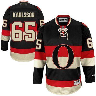Reebok Erik Karlsson Ottawa Senators Premier Player Jersey - Black